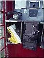 HT9638 : Inside the Foula telephone box by Mike Pennington