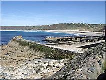 SW3526 : Jetty, Sennen Cove by nick macneill