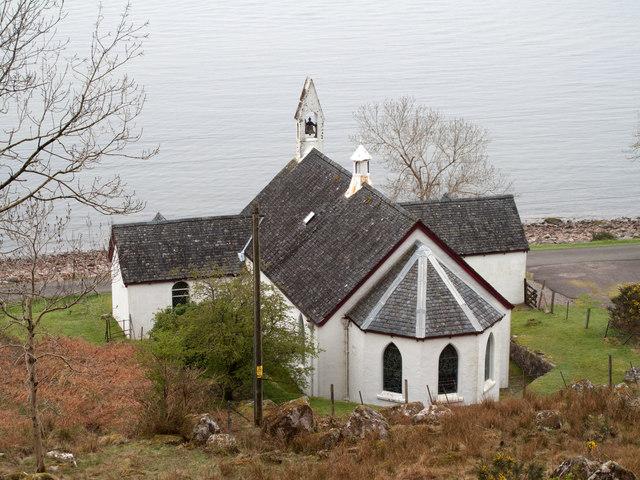 Parish church at Camasnacroise