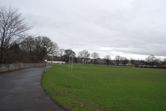 Rugby pitch next to Murrayfield