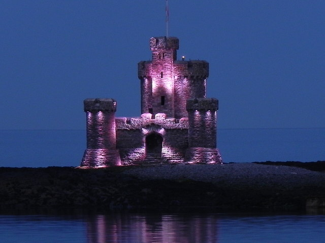 The Tower of Refuge Illuminated