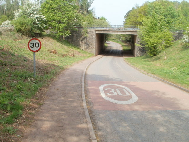 Speed limit on the southern approach to Dingestow