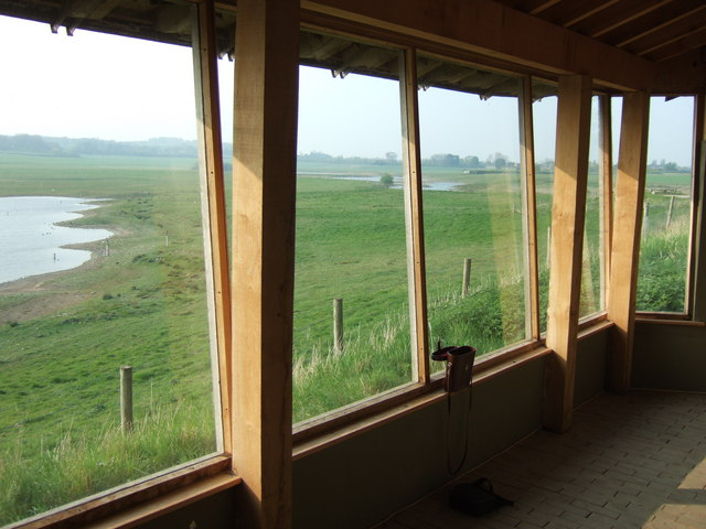 Nosterfield Local Nature Reserve - looking out from the Interpretation Centre