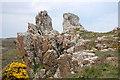 SW7616 : Rock Formation near Treleaver by Trevor Harris