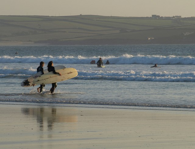 Surfers, Hayle Bay