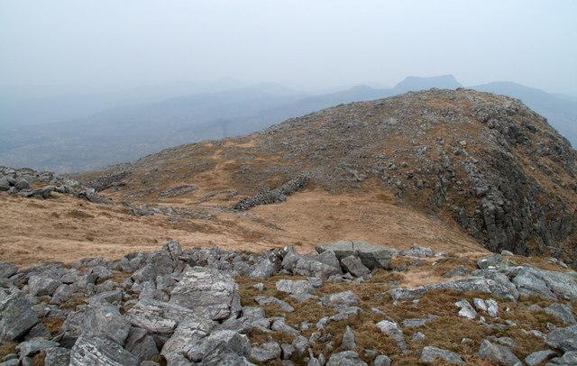 'Camp' at col north-east of summit of Creach Bheinn