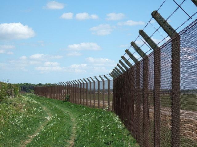 Perimeter fence, Sculthorpe Airfield, Norfolk