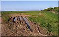 NU0841 : Tractor Tracks near Fenham by wfmillar