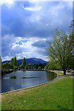 NN6207 : Riverbank, Callander by edward mcmaihin