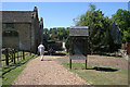 SK9226 : Pedestrian entrance to Easton Walled Gardens by Kate Jewell