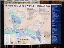 SJ6703 : Ironbridge Information Sign, Ironbridge, Shropshire by Christine Matthews