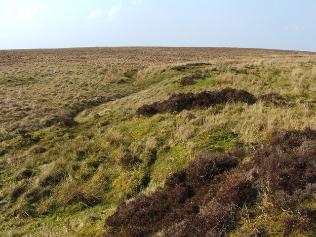 Moorland disturbed by former limestone industry