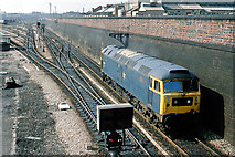 TQ2282 : Class 47 Diesel locomotive coming off Old Oak Common Depot by Ben Brooksbank