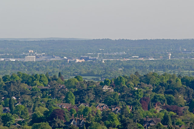 Gatwick Airport from Reigate Hill