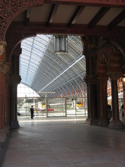 Entering St.Pancras Station