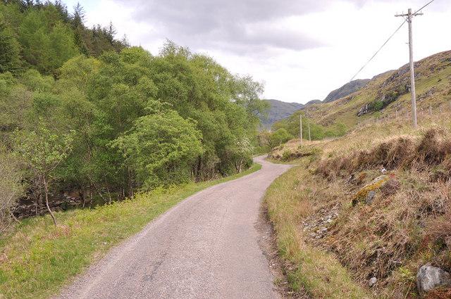 Minor road in Glen Moidart