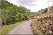 NM7372 : Minor road in Glen Moidart by Steven Brown