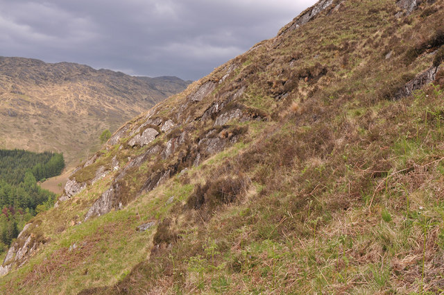 Steep slope of Ceann Loch Uachdrach