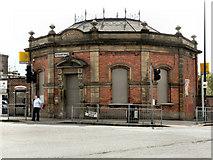 SJ8196 : Old Trafford (Trafford Bar) Station Building by David Dixon