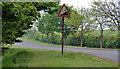 J4691 : Steep hill sign near Whitehead by Albert Bridge
