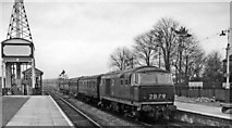 ST9897 : Diesel-hauled Up stopping train arriving at Kemble station by Ben Brooksbank