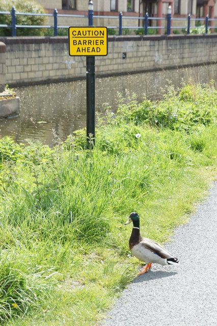 Checking for Barrier on Union Canal.