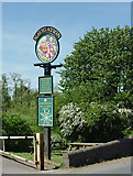 SO8688 : Pub sign by Greensforge Bridge, Staffordshire by Roger  Kidd