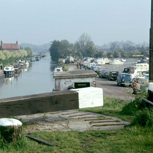 Grand Union Canal and Whilton Marina, 1976 by Robin Webster