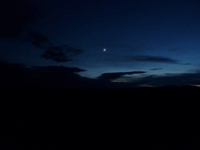 Night-time moorland, Crask Inn