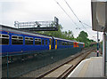 SK5446 : Southbound train at Moor Bridge by John Sutton