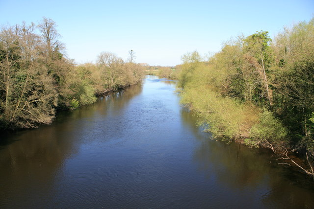 The River Dee from Aldford Iron Bridge