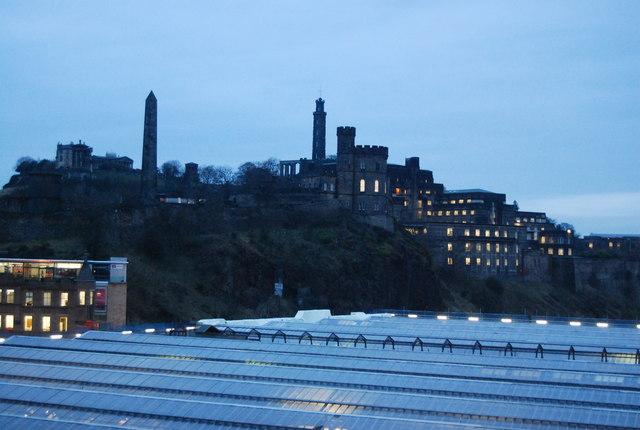 Old Calton Burial Ground and Calton Hill