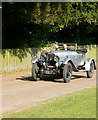 SP8402 : Vintage car at Hampden House by Graham Horn