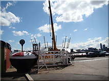 TQ3980 : View of the O2 from Trinity Buoy Wharf by Robert Lamb