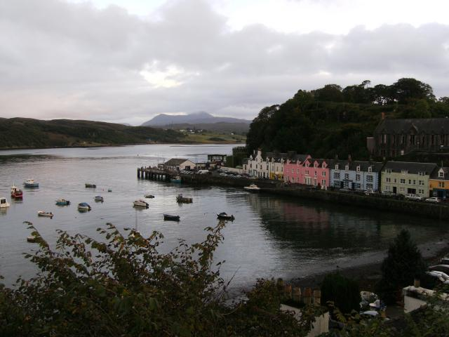 View to Portree Pier