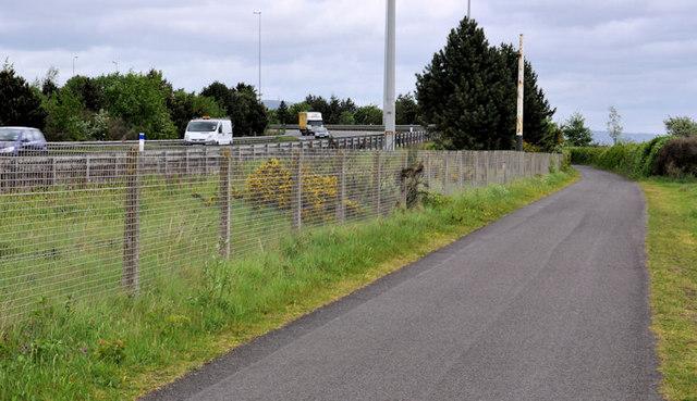 Cycle route, Greencastle near Belfast (1)