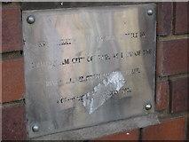 SP0278 : Plaque at River Rea, Northfield by Michael Westley