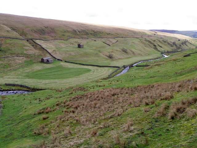 Fields and barns in Stonesdale
