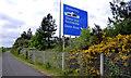 J3479 : Advance direction sign, M2 near Belfast by Albert Bridge