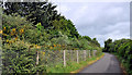 J3479 : Cycle route, Greencastle, Belfast (3) by Albert Bridge