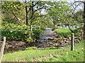 SJ9965 : River Dane and Black Brook confluence by Peter Turner