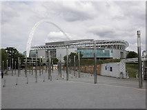 TQ1985 : Wembley Stadium by Roger Cornfoot
