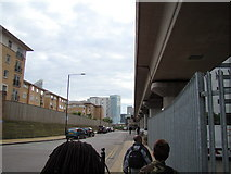 TQ3880 : View of the HSBC Building from Blackwall Way by Robert Lamb