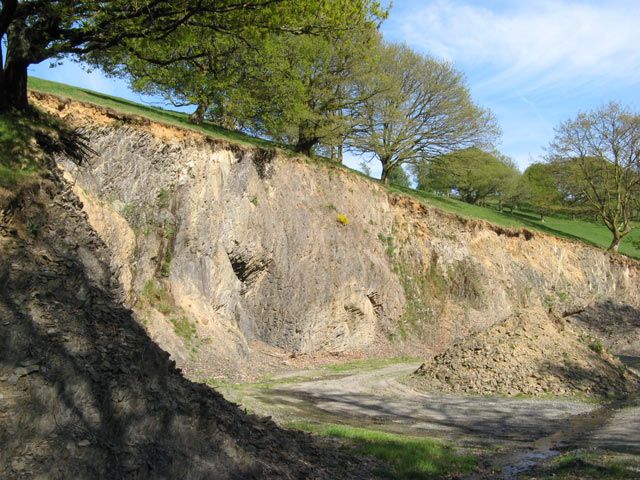 Quarried hillside