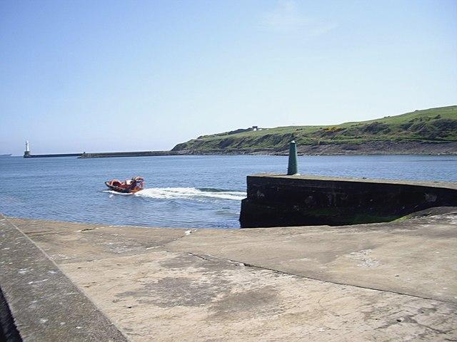 Jetty slipway at New Pier, Aberdeen Harbour
