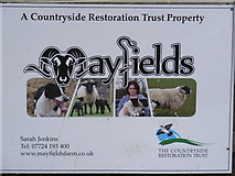 TG0524 : Mayfields Farm Sign by Adrian Cable