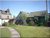 NJ9505 : Tarry sheds, Footdee by Stanley Howe