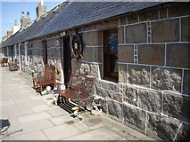 NJ9505 : A street of fishermen's cottages by Stanley Howe