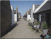 NJ9505 : Lane from South Square to North Square, Footdee by Stanley Howe