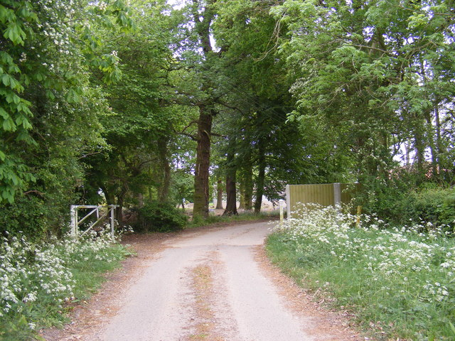 The entrance to Old Hall Farm